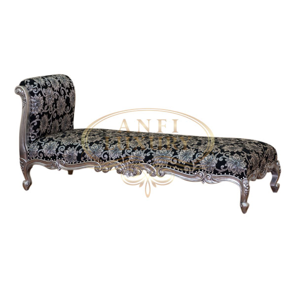 Chaise carved lounge indonesian furniture indonesian for Carved wooden chaise