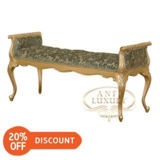 nantes carved long stool