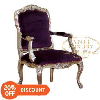 nantes silver arm chair