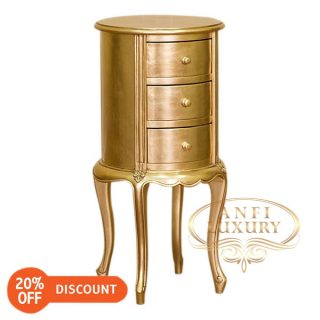 nantes round bedside table