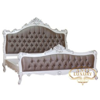 raisa dark brown upholstery bed