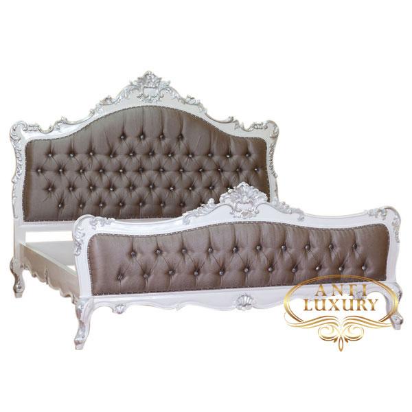 raisa dark brown upholstery bed
