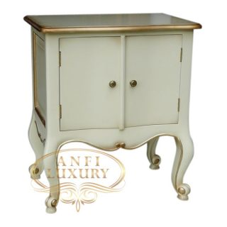 light ivory bedside table
