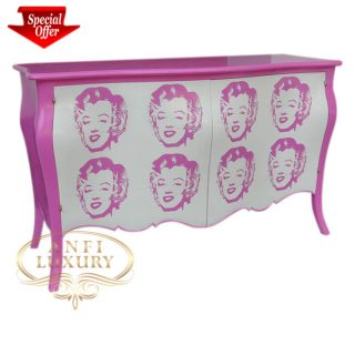 pink monroe 2 door commode