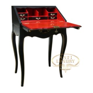 lady melissa desk black red