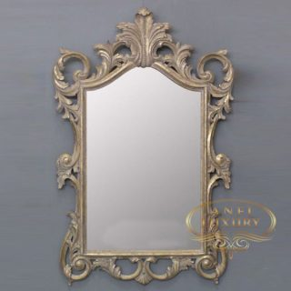 lady iveth gold carved mirror