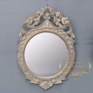 montezuma gold carved mirror