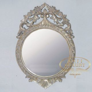 camille gold carved mirror