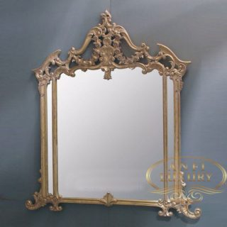 maria selena gold carved mirror