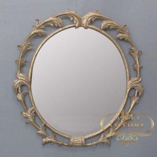 aprilia oval classic gold mirror