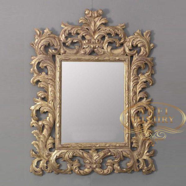 prambanan high carved gold mirror