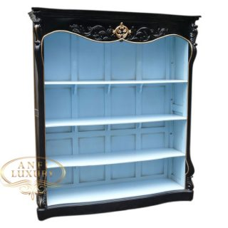 kelsey black blue bookcase