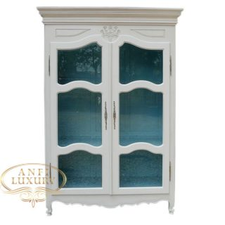 camila white glass wardrobe