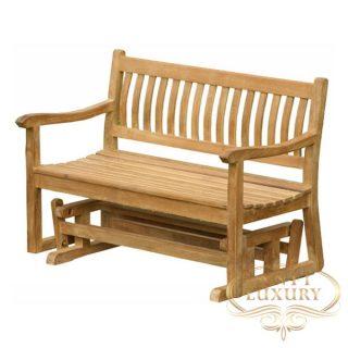 teak garden double legs bench
