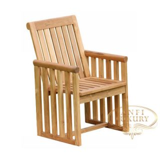 teak garden double side chair