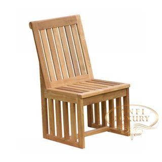 teak garden jala side chair
