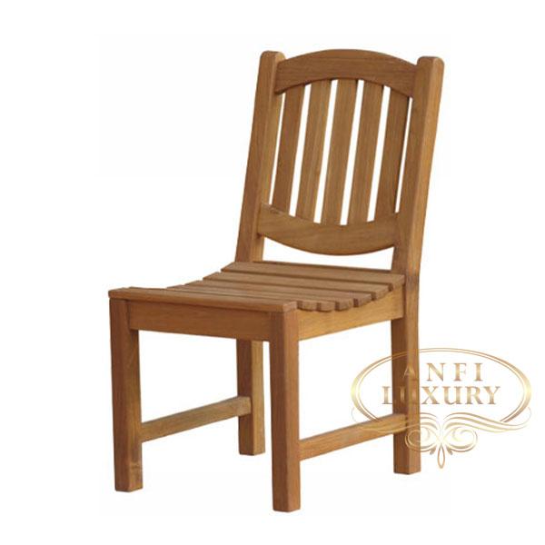 teak garden lexi curve chair