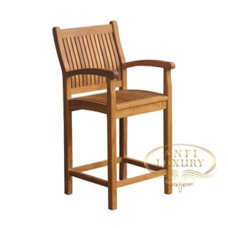 teak garden java bar chair