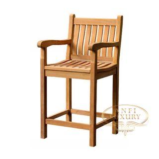 teak garden lina bar chair