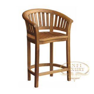 teak garden line bar chair