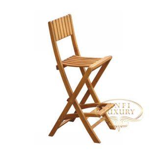 teak garden bar chair